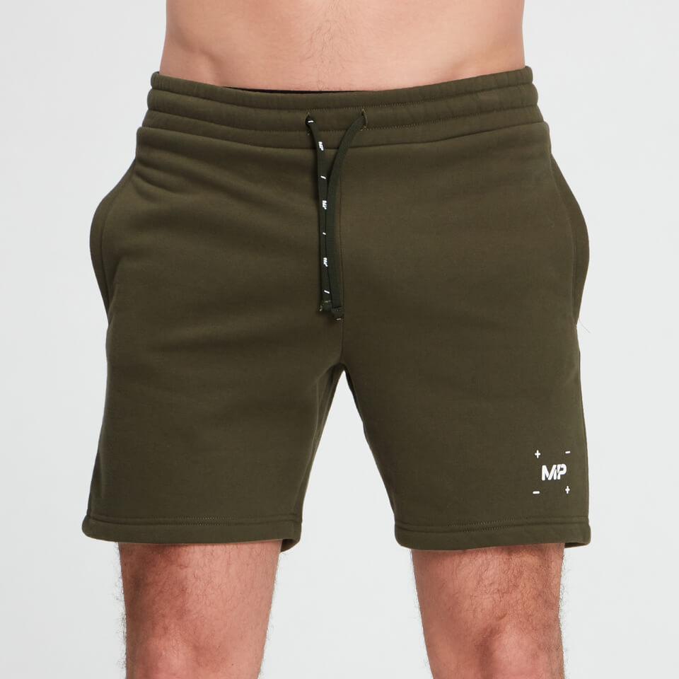 MP Men's Central Graphic Shorts - Dark Olive - XXS