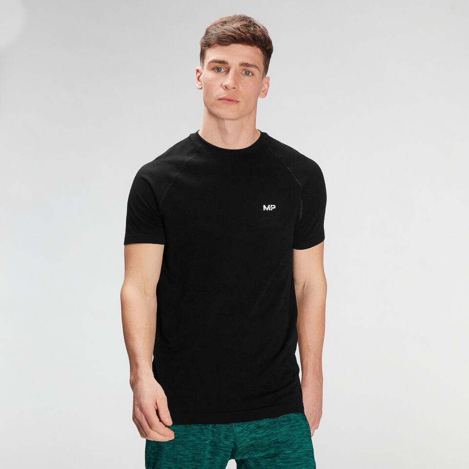 MP Men's Essential Seamless Graphic Short Sleeve T-Shirt- Black - XS