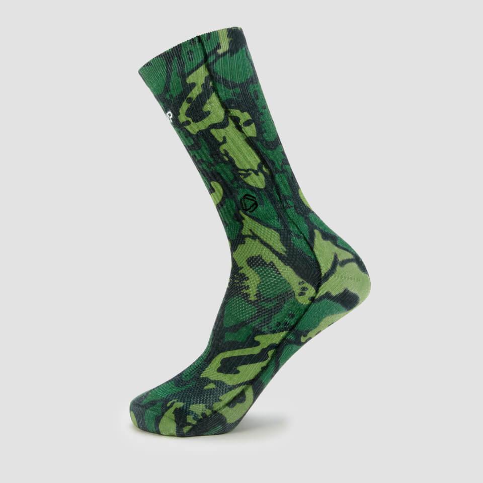 MP x Hexxee Adapt hoge sokken - Groene camo - Mens UK 9-11.5