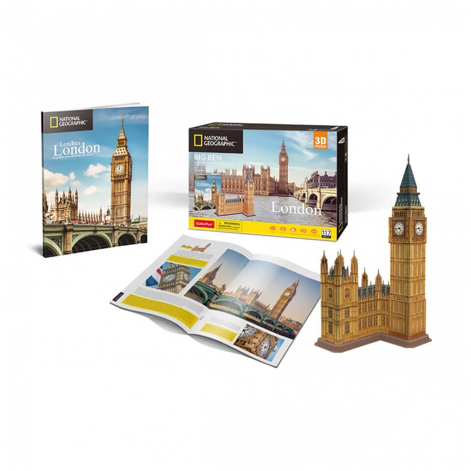 Ausgefallenkreatives - National Geographic Big Ben 3D Jigsaw Puzzle - Onlineshop Sowas Will Ich Auch