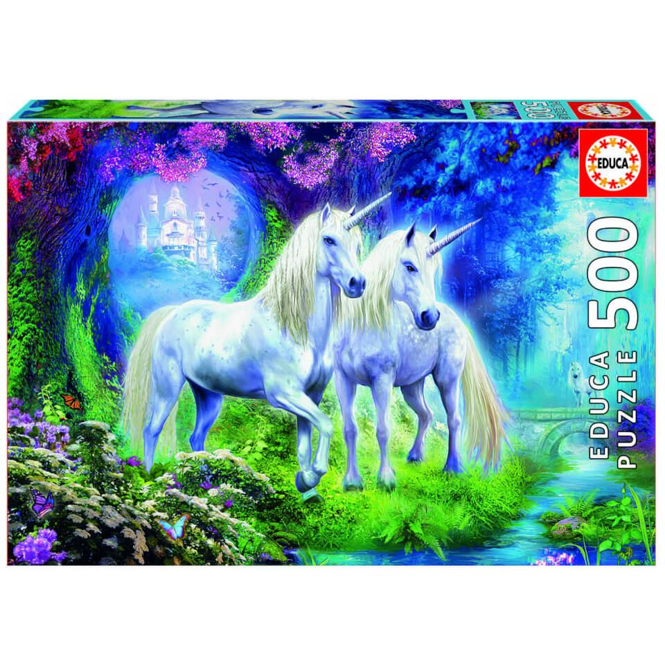 Ausgefallenkreatives - Unicorns in the Forest Jigsaw Puzzle (500 Pieces) - Onlineshop Sowas Will Ich Auch