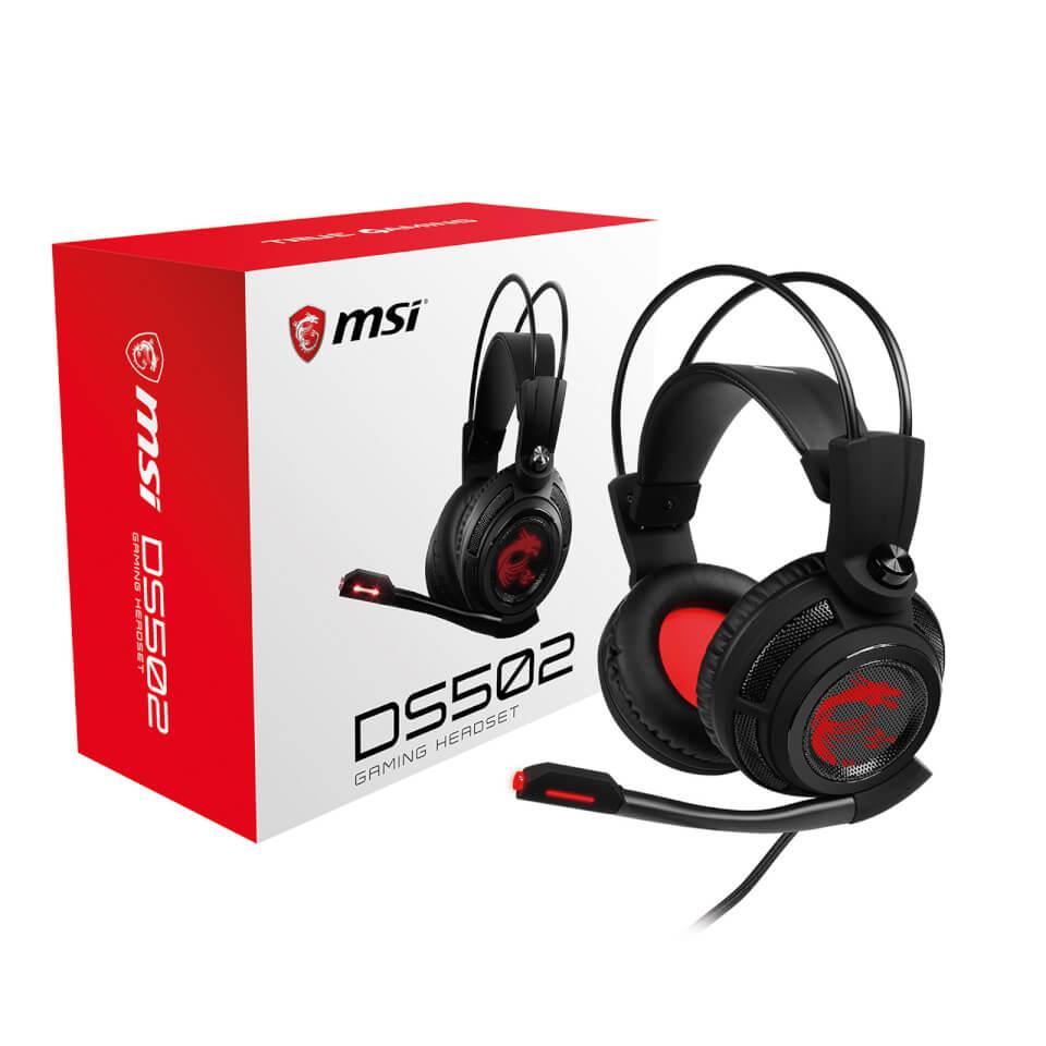 Ausgefallengadgets - MSI DS502 7.1 Virtual Surround Sound USB Gaming Headset - Onlineshop Sowas Will Ich Auch
