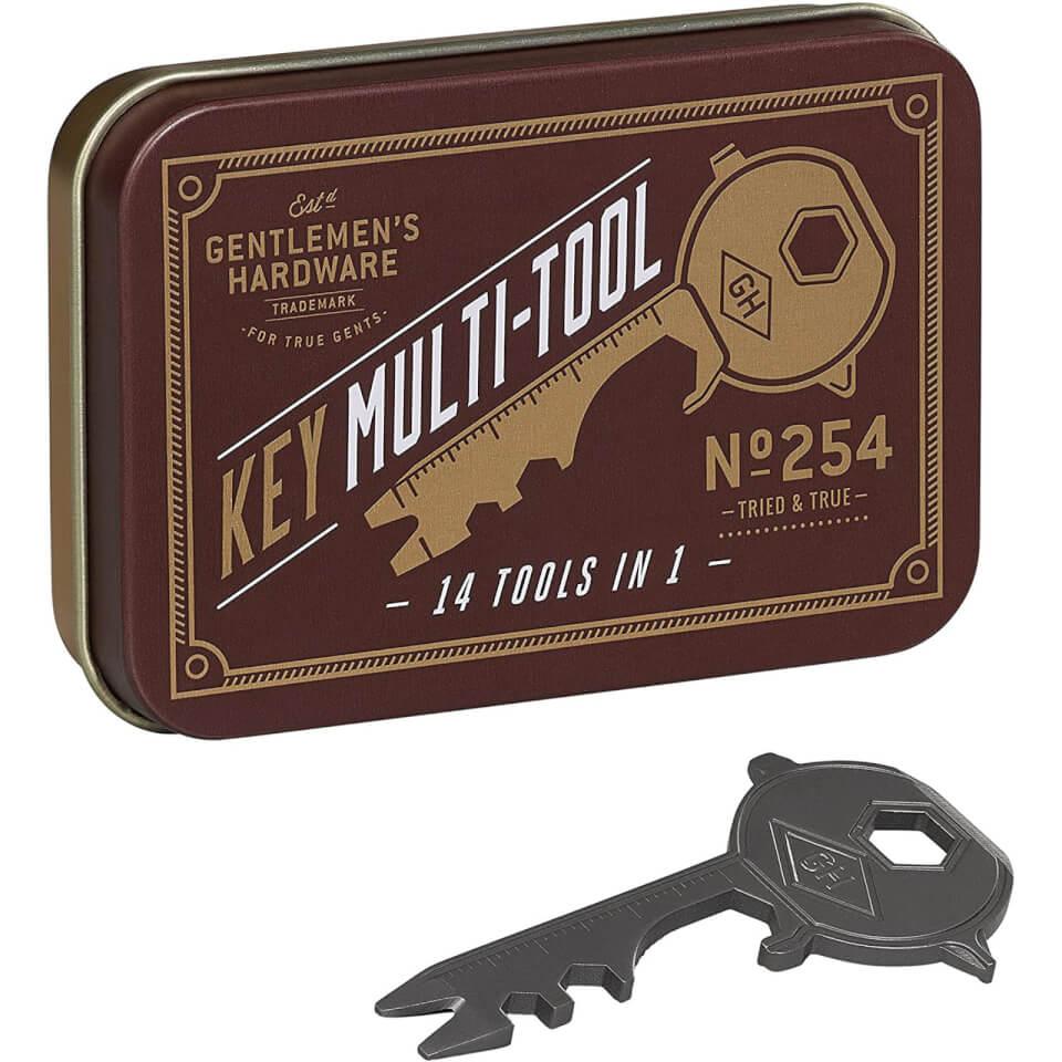 Ausgefallengadgets - Gentlemen's Hardware Key Multi Tool 14 in 1 - Onlineshop Sowas Will Ich Auch