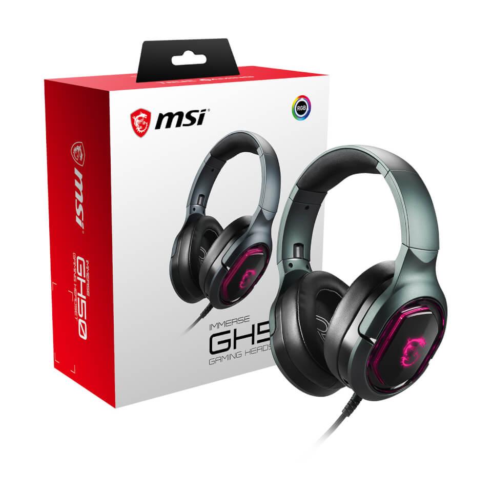 Ausgefallengadgets - MSI IMMERSE GH50 7.1 Virtual Surround Sound RGB USB Gaming Headset - Onlineshop Sowas Will Ich Auch