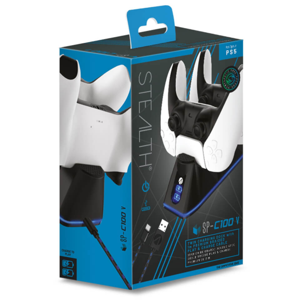 Ausgefallengadgets - PS5 Twin USB Charging Dock Play Charge Cable Black - Onlineshop Sowas Will Ich Auch