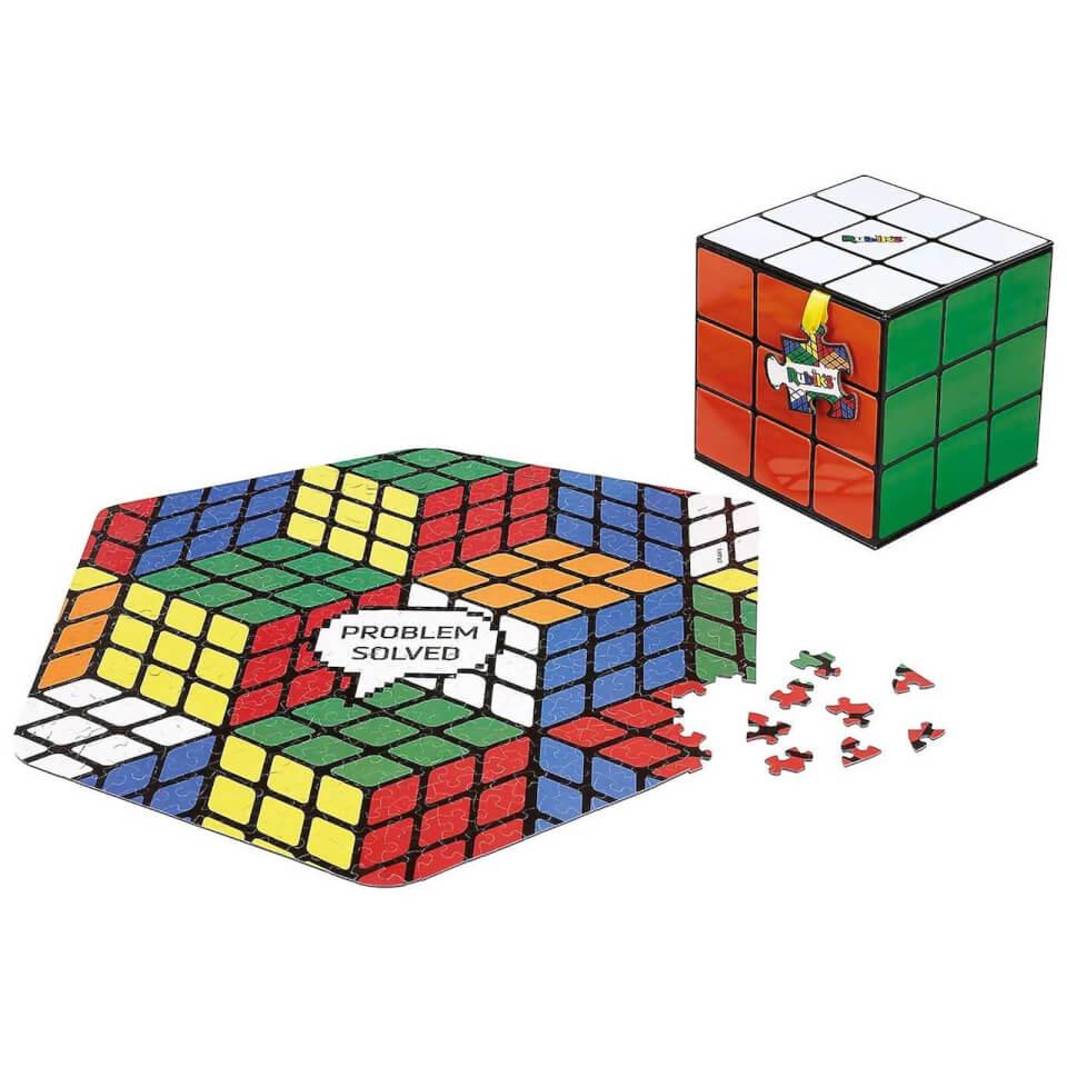 Ausgefallenkreatives - Rubik's Cube Jigsaw Puzzle 500 Pieces - Onlineshop Sowas Will Ich Auch