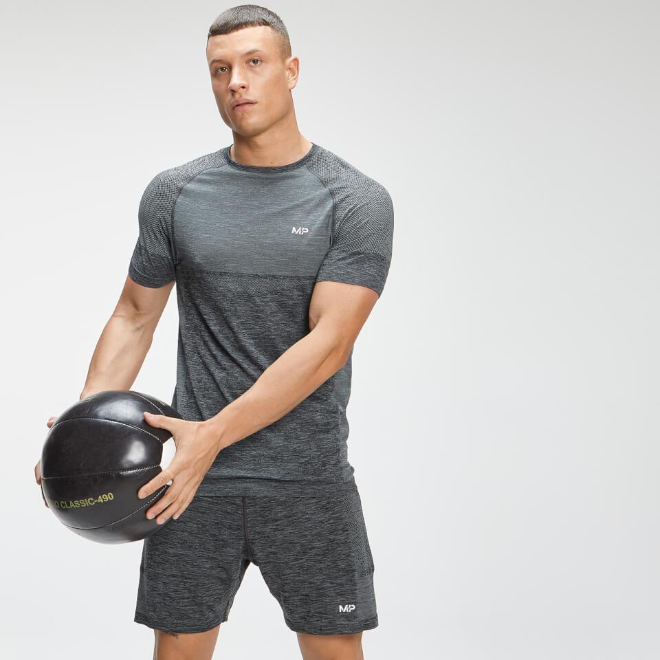 MP Men's Essential Seamless Short Sleeve T-Shirt - Dark Grey Marl - XL