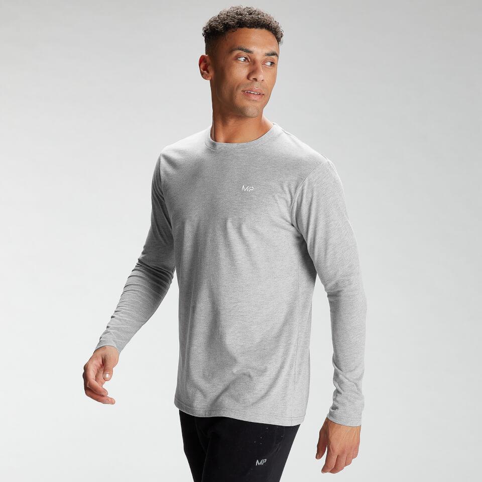 MP Men's Essentials Long Sleeve Top - Classic Grey Marl - XXL