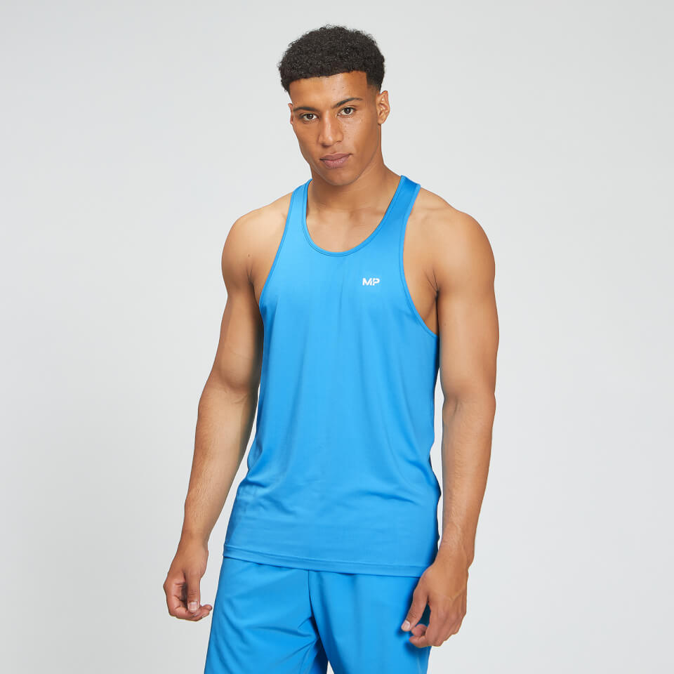 MP Men's Essentials Training Stringer Vest - Bright Blue - L