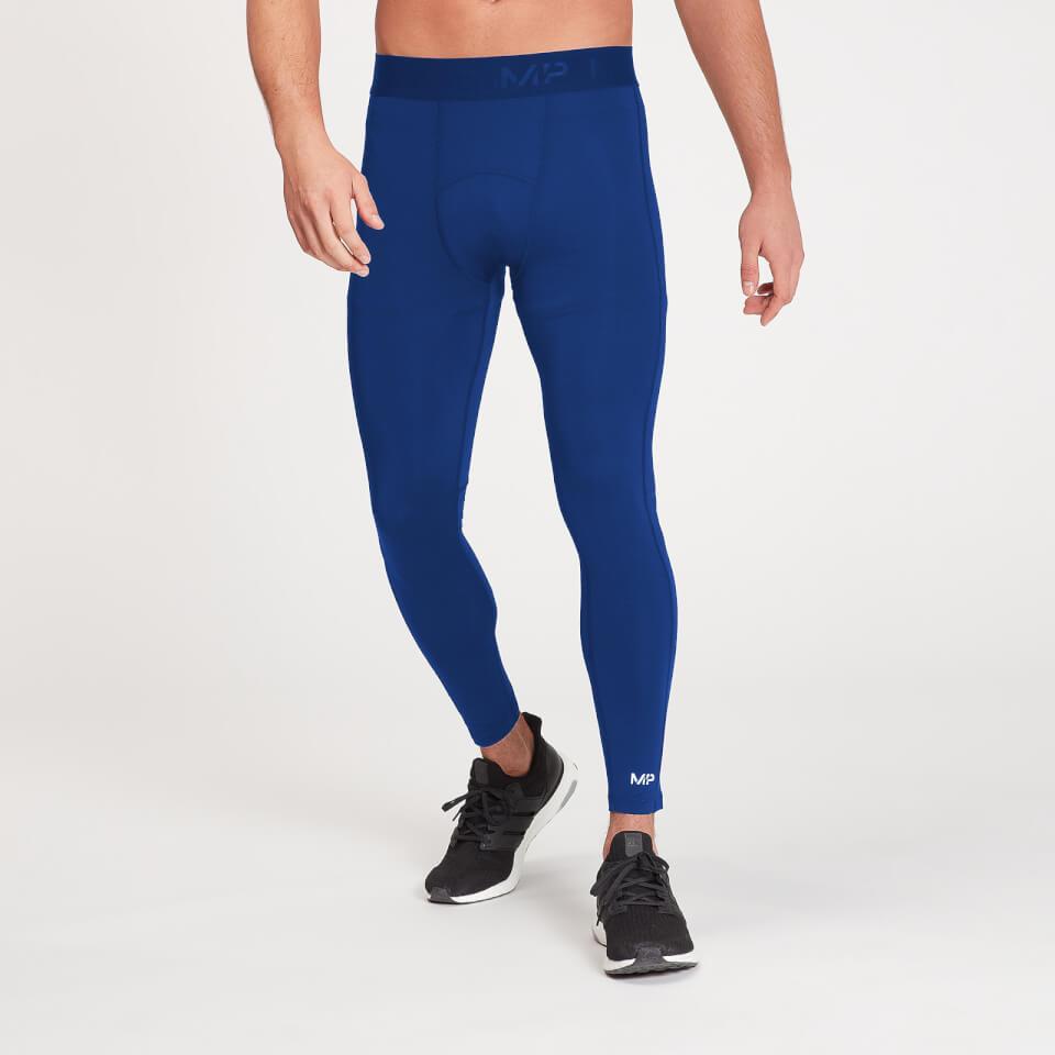 MP Men's Essentials Training Baselayer Leggings - Intense Blue - XXS