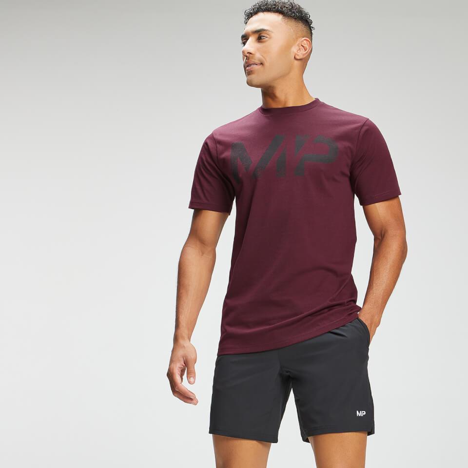 MP Men's Adapt Grit Graphic T-Shirt - Merlot Marl  - L