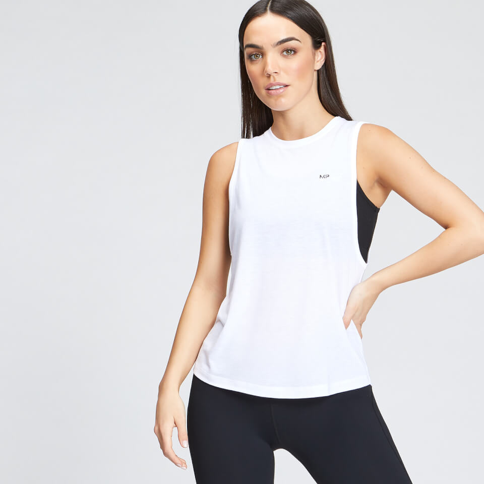 MP Women's Essentials Training Drop Armhole Vest - White - M