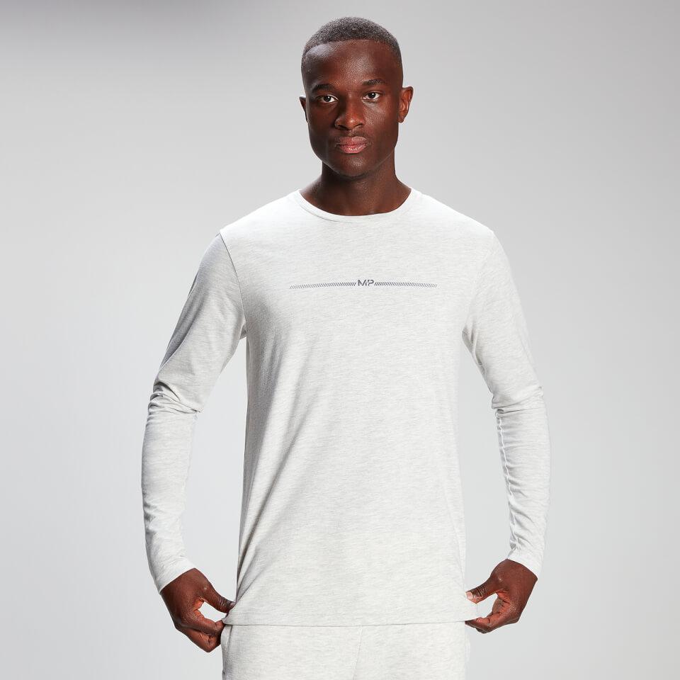 MP Men's Mini Mark Graphic Long Sleeve T-Shirt - Light Grey Marl - XXS