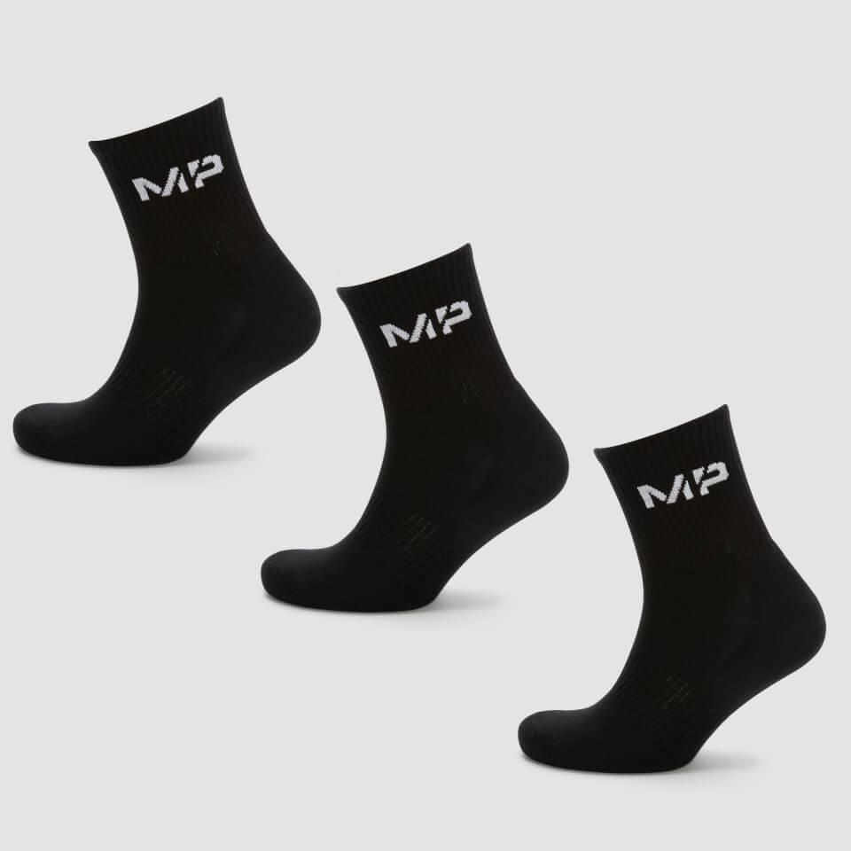 MP Men's Essentials Crew Socks - Black (3 Pack) - UK 9-12