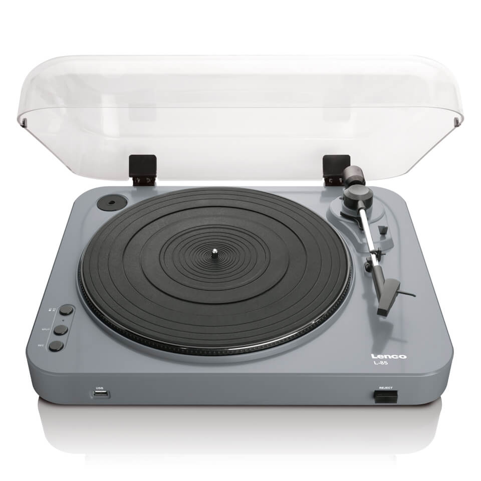 Ausgefallengadgets - Lenco L 85 USB Turntable with Direct Recording Grey - Onlineshop Sowas Will Ich Auch