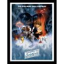 Star Wars The Empire Strikes Back - One Sheet - Framed 30x40cm Print Multicolor