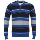 Kangol Men's Ernie Fine Gauge V Neck Jumper - Cobalt Blue