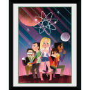 The Big Bang Theory Space - 8x6 Framed Photographic