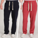 Brave Soul Women's 2-Pack Sweat Pants - Navy/Oxblood Red - L