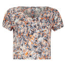 Madam Rage Women's Multi Print Crop Top - Multi - 14