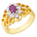 PU644 OVAL RUBY RING