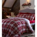 Catherine Lansfield Tartan Single Duvet Set - Red