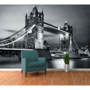 Image of London Tower Bridge by Night Wall Mural