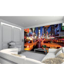 Image of New York Times Square in Bright Lights and Yellow Cabs Wall Mural