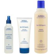 Aveda Brilliant Trio Shampoo Conditioner & Hair Spray
