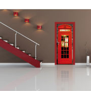 Image of London Phone Box Door Mural