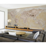 Image of Neutral Map Wall Mural