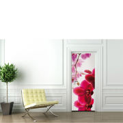 Image of Orchid Flower Door Mural