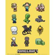 Minecraft Characters - Mini Poster - 40 x 50cm