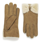 UGG Womens Classic Bow Gloves  Chestnut  S