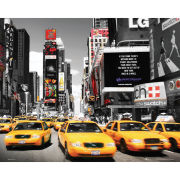 New York Times Square Yellow Cabs - Mini Poster - 40 x 50cm