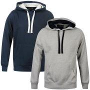 55 Soul Men's 2 Pack Hooded Sweater - Navy & Light Grey Marl