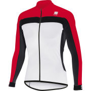 Sportful Pista Long Sleeve Jersey - White/Red
