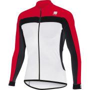 Sportful Pista Long Sleeve Jersey - White/Red