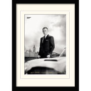 James Bond  Bond and DB5 (Skyfall) Framed and Mounted Print (30x40)