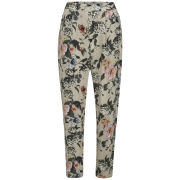 ONLY Women's Trixie Printed Trousers - Pumice Stone