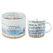 Laughing Sister Mug In Hatbox