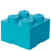 LEGO Storage Brick Box 4   Medium Azure