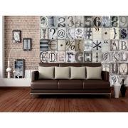 Papier Peint Typography 64 Pièces - Creative Collage