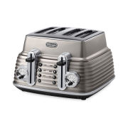 De'Longhi CTZ4003 Scultura 4 Slice Toaster - Champagne Gloss