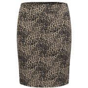 ONLY Women's Dina Leopard Print Pencil Skirt - Leopard