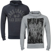Crosshatch Men's 2-Pack Malcome and Old School Tops - Grey Marl/Navy Marl