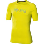Asics Mens Graphic Running Top  Electric Lime  XXL