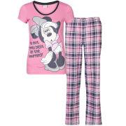 Minnie Mouse Women's Checked Pyjama Set - Pink - 18-20 - Pink