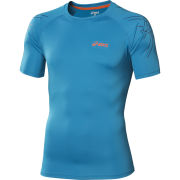 Asics Mens Tiger Running Top  Atlantic Blue  XL