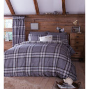Catherine Lansfield Kelso Bedding Set - Charcoal